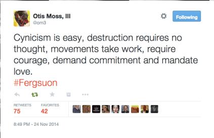 Moss tweet